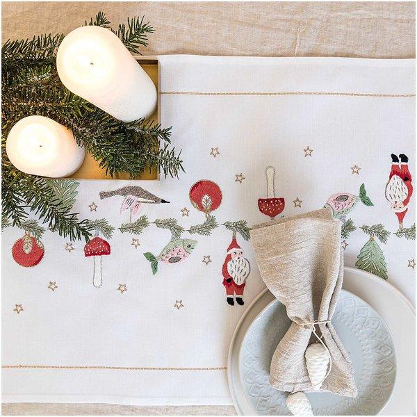 Rico Design Stickpackung Läufer Weihnachtsanhänger 45x100cm