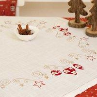 Rico Design Stickpackung Decke Weihnachtskugel 85x85cm