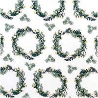 Rico Design Stoff Kranz weiß-gold 50x140cm
