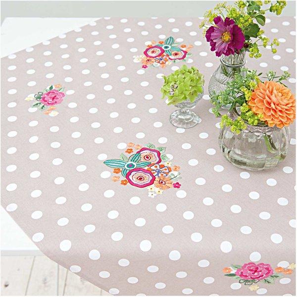Rico Design Stickpackung Decke Sommerblüten 95x95cm