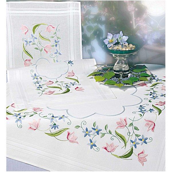 Rico Design Stickpackung Decke Blumenranke 80x80cm