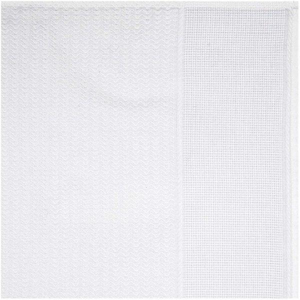 Rico Design Geschirrtuch Wellen weiß 50x75cm