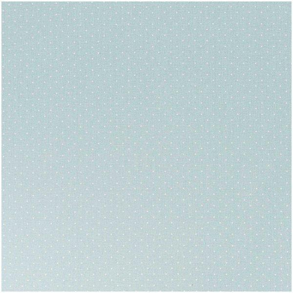 Rico Design Stoff eisblau Pünktchen weiß 160cm
