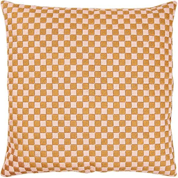 Rico Design Gobelin Kissen Quadrate rosa-sand 40x40cm zum Sticken