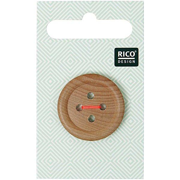 Rico Design Holzknopf 2,6cm mit Rand