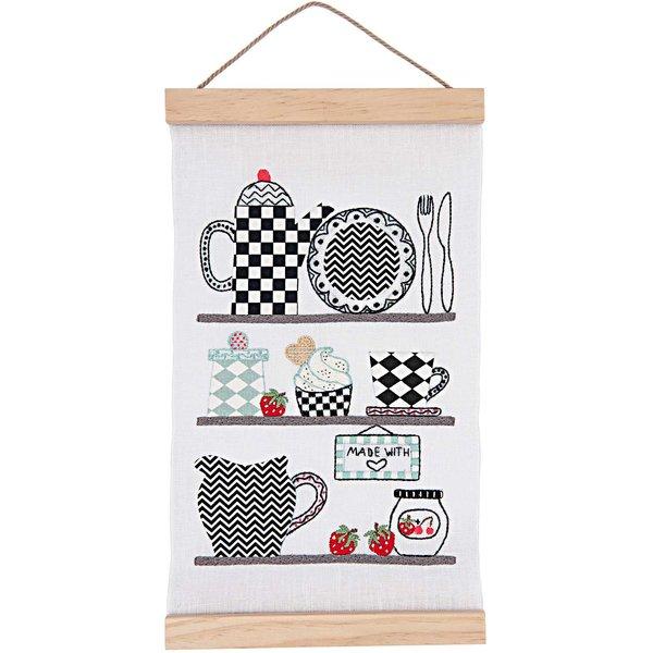 Rico Design Stickpackung Wandbehang Küchenregal 20x40cm