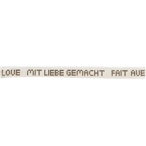 Rico Design Ribbon Mit Liebe Gemacht weiß-grau 2m