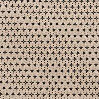 Rico Design Stoff grafische Sterne natur-schwarz 50x140cm