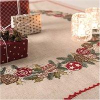 Rico Design Stickpackung Decke Weihnachtskranz 90x90cm