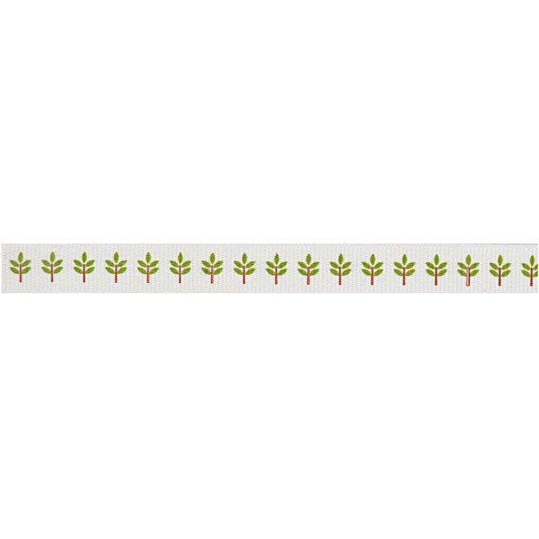 Rico Design Ribbon Zweige weiß 2m