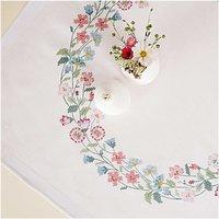 Rico Design Stickpackung Decke Blütenkranz 90x90cm