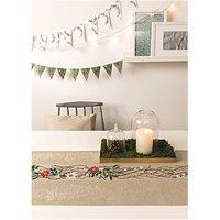Rico Design Stickpackung Tischband Kranz mit Blüten 29x155cm