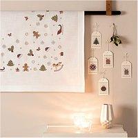 Rico Design Stickpackung Decke Weihnachtsdeko 90x90cm