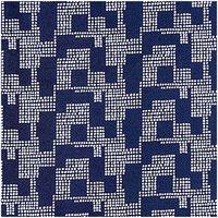 Rico Design Druckstoff grafisches Muster dunkelblau 50x140cm