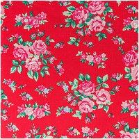 Rico Design Stoff Blumen rot-rosa 50x160cm
