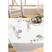 Rico Design Stickpackung Decke Lavendeltopf 90x90cm