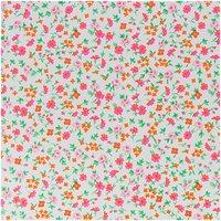 Rico Design Stoff Blumen weiß-rot 50x55cm