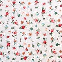 Rico Design Stoff Streublumen weiß-mehrfarbig 50x140cm