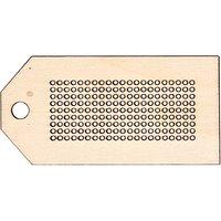 Rico Design Holzanhänger eckig zum Besticken 3,5x7cm
