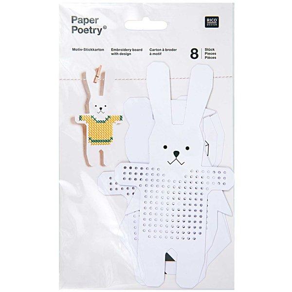 Paper Poetry Stickkarton Pinguin-Bär-Hase-Eule