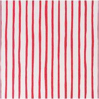 Rico Design Stoff weiß-rote Streifen 160cm