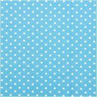 Rico Design Stoff hellblau-weiße Sterne 160cm