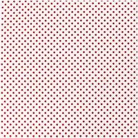 Rico Design Stoff Punkte weiß-rot 50x140cm