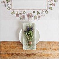 Rico Design Stickpackung Decke Lavendel 90x90cm