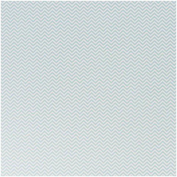 Rico Design Stoff Zickzack eisblau 50x160cm