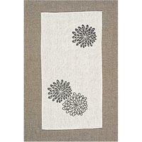 Rico Design Leinenband Chrysanthemen weiß 30cm
