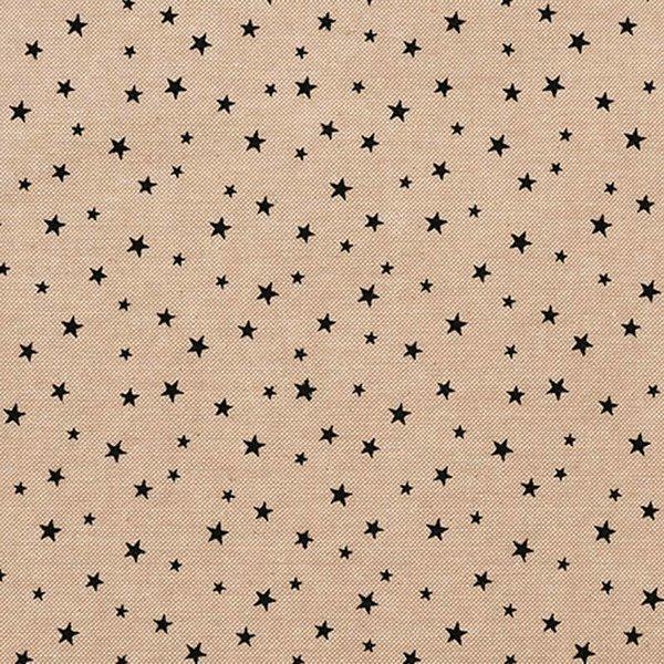 Rico Design Stoff Sterne klein natur-schwarz 140cm