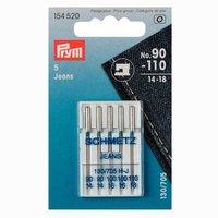 Prym Nähmaschinennadeln 130/705 Jeans Nr.90-110 5 Stück