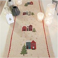 Rico Design Stickpackung Läufer Häuser 40x150cm