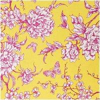 Rico Design Stoff Kirschblüte gelb-rot 140cm beschichtet