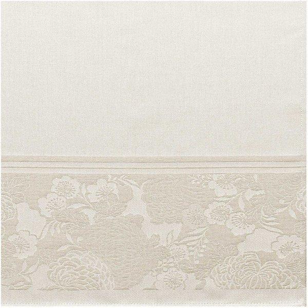 Rico Design Tischdecke Chrysantheme natur 90x90cm