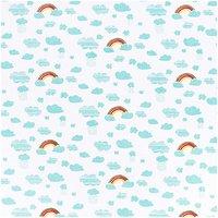 Rico Design Stoff Regenbogen weiß 140cm