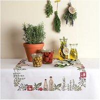 Rico Design Stickpackung Decke Küchenkräuter 90x90cm