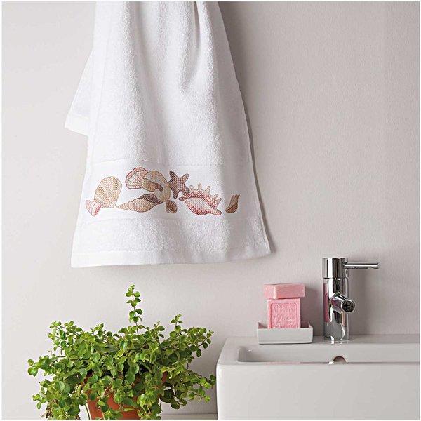 Rico Design Stickpackung Handtuch Muscheln 50x100cm