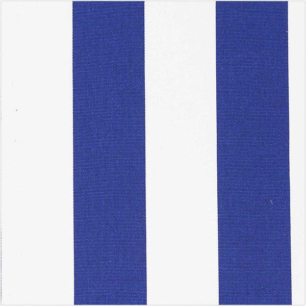 Rico Design Druckstoff Canvas  Streifen weiß-blau 140cm