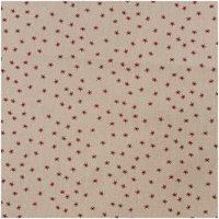Rico Design Stoff Sterne natur-rot 50x140cm