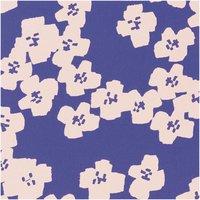 Rico Design Druckstoff Okina Hana Blumen blau-rosa 140cm