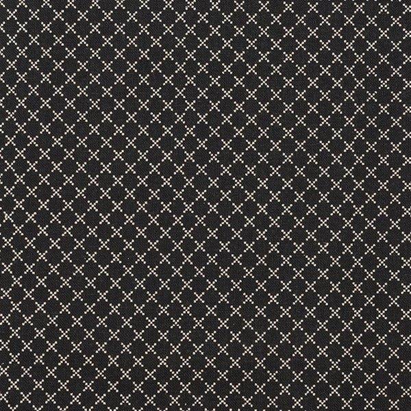Rico Design Stoff Rauten schwarz-natur 140cm