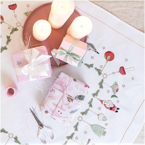 Rico Design Stickpackung Decke Weihnachtsanhänger 90x90cm