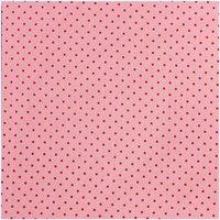 Rico Design Stoff Punkte rosa-weiß 50x160cm