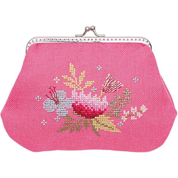 Rico Design Stickpackung Geldbörse Blumen 13x13cm