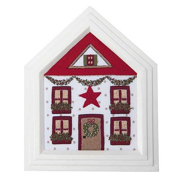 Rico Design Stickpackung Weihnachtshaus 16,5x21cm
