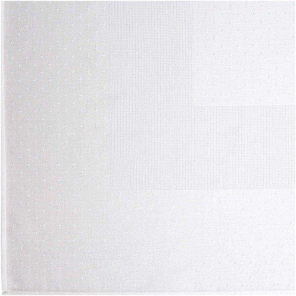 Rico Design Tischdecke weiß mit Tupfen 90x90cm