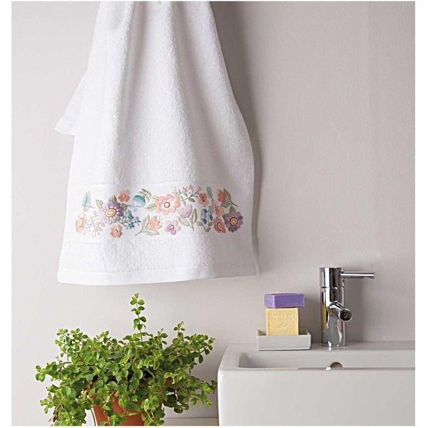 Rico Design Stickpackung Handtuch Blumenwiese 50x100cm