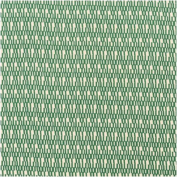 Rico Design Druckstoff Jardin Japonais Striche creme-grün 140cm