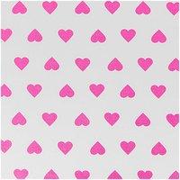 Rico Design Stoff Herzen weiß-pink 50x160cm